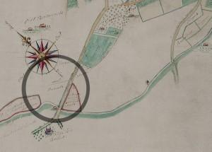 Detail van de kaart van Passavant (1697) met in de cirkel de betreffende wal